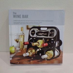 Metrokane THE WINE BAR 6 Bottle Portable Wine Rack
